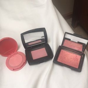 3 blushes. Pop is NEW. Lancôme, NARS, tarte